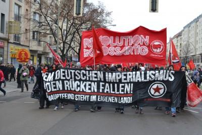 Berlin 1 Demo fram Revolution ist grossartig